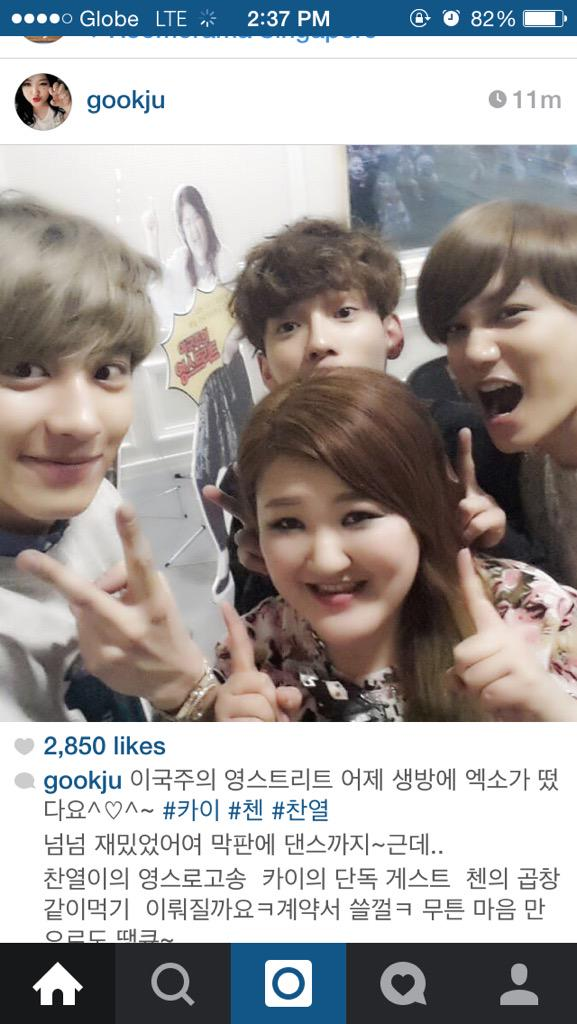 150424 Chanyeol Chen Kai – Gok Juu Instagram Update ...
